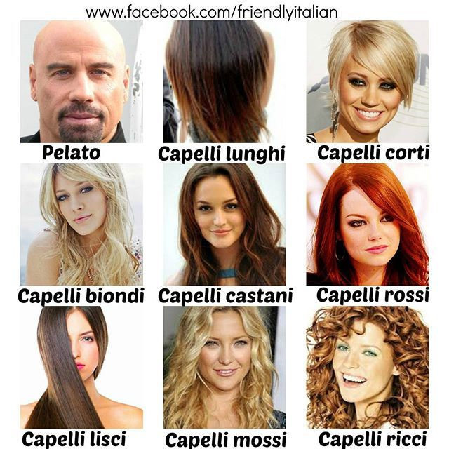 Come sono i vostri capelli? #vocabulary #italian #italianvocabulary #learn…