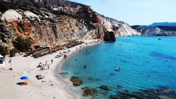 Perissa  Beach Santorini, Greece