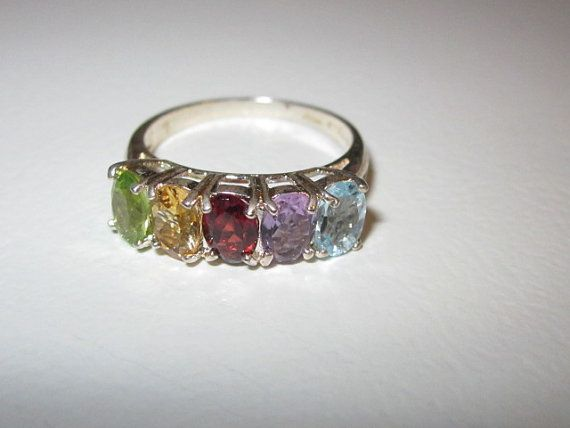Vintage Sterling Silver Mothers Ring or by Klcvintagetreasures, $19.99