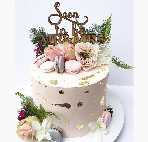 Cake Topper Soon To Be Mr Mrs Custom Made Birthday Wedding