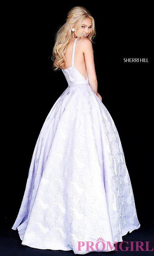 fb92cc3ba68 Long Print Illusion Prom Dress by Sherri Hill in 2019