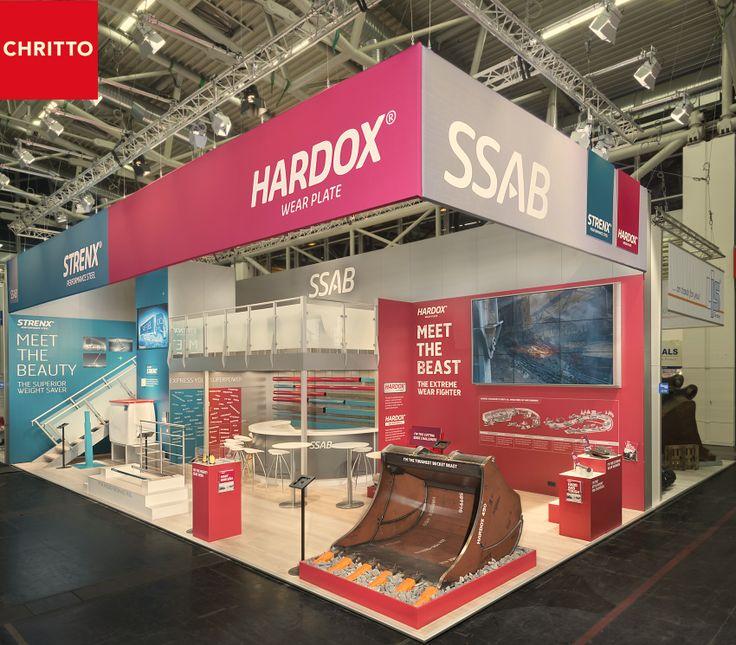 At #bauma we built a successful #booth for #ssab in #Munich.  #messebau | #chritto | #booth | #münchen | #munich