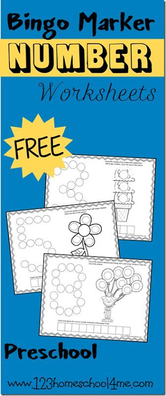 FREE!! Bingo Marker Number  Worksheets are such a fun way for toddler, preschool, and kindergarten age kids to learn and practice their numbers.