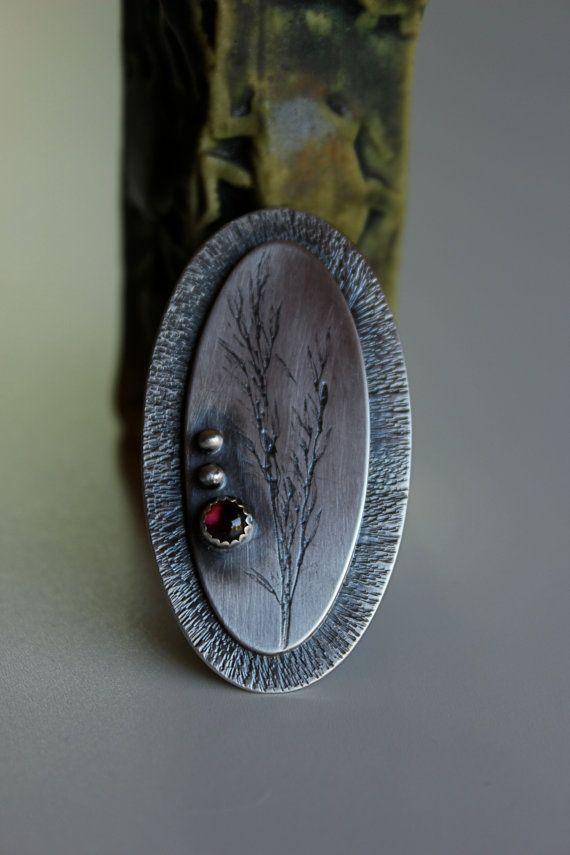 Summer .....sterling silver, garnet ring