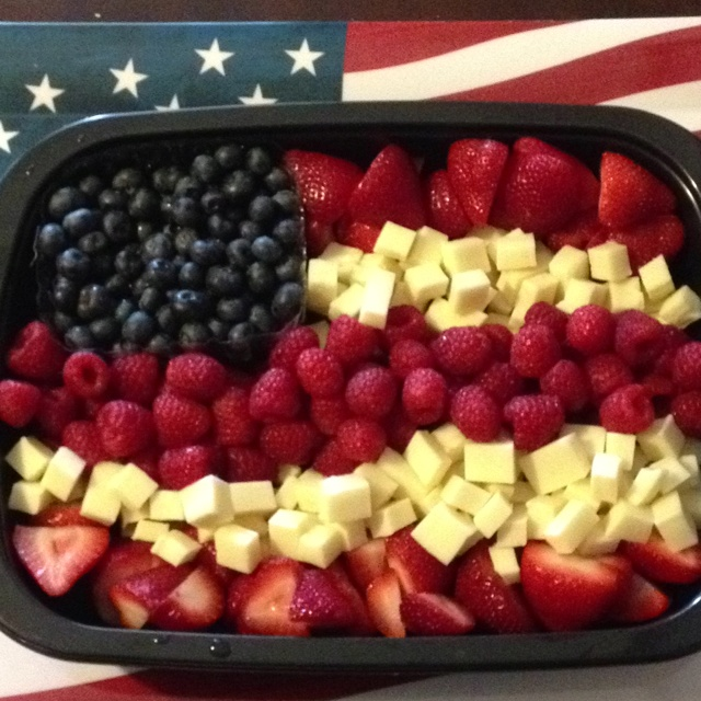 American Flag Fruit Tray Food Pinterest Flags