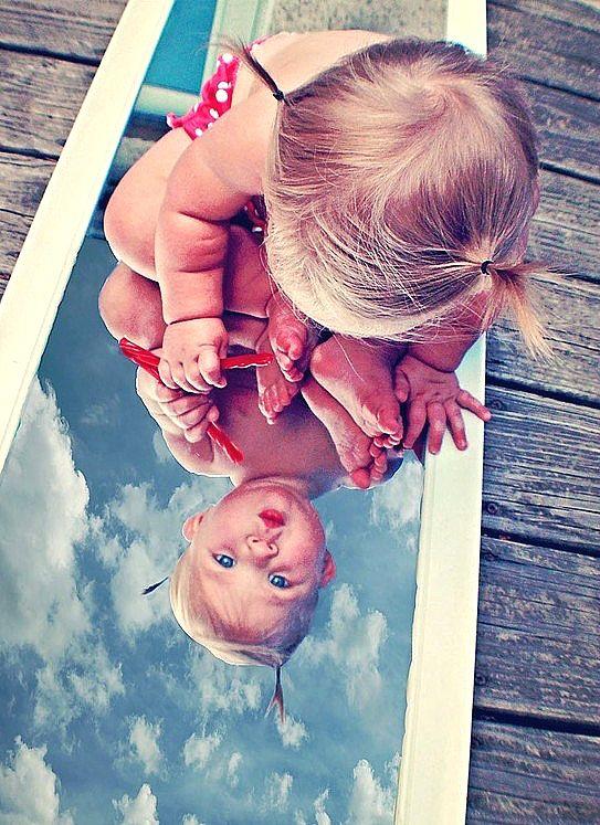 adorable toddler, blue sky