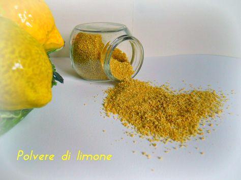 Polvere di limone Si tratta di una polvere di limone facile da realizzare e utilissima in cucina.