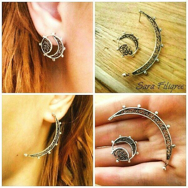 Handmade silver filigree earrings...