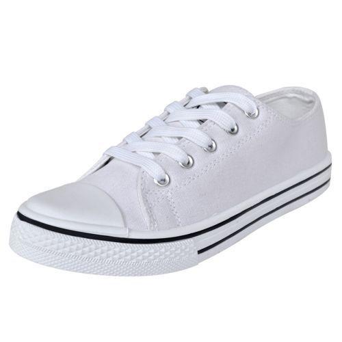 Ebay Sonderangebot Low Top Damen Sneaker Sneakers Sportschuhe Canvas Sport Schnürschuhe