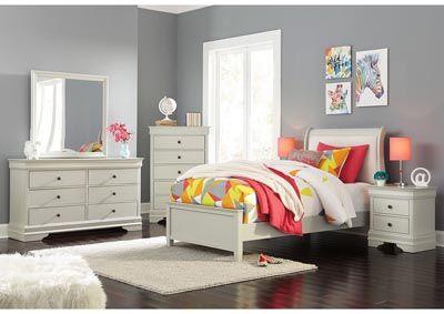 Best 930319 Jorstad Gray Dresser Mirror Sleigh Bedroom Set 400 x 300