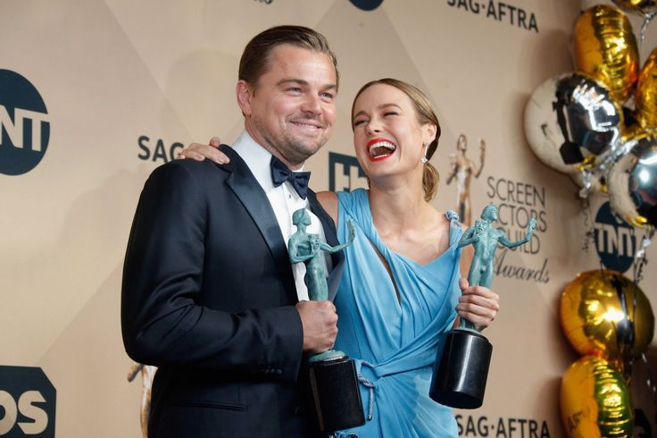 Not only was The Revenant star (pictured with Brie Larson) a big winner at Saturday's Screen Actors Guild Awards, but he was also the guy everyone wanted to have a little face time with. Take a look… (Photo: Getty Images)