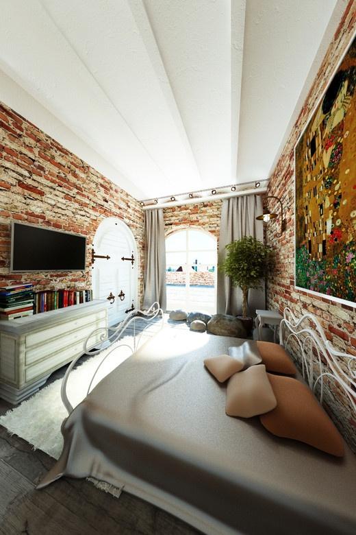 Лофт-аппартаменты в Москве. Спальня http://www.myhome.ru/idea/interior/11485#r_23446