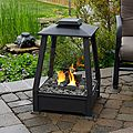 Real Flame 'Sierra' Black Outdoor Fireplace | Overstock.com Shopping - The Best Deals on Fireplaces & Chimineas