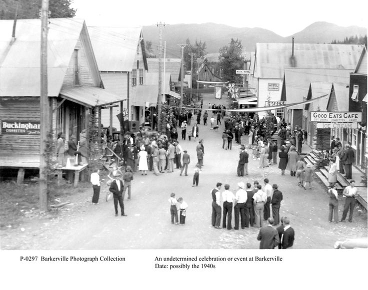 Barkerville in the height of the goldrush