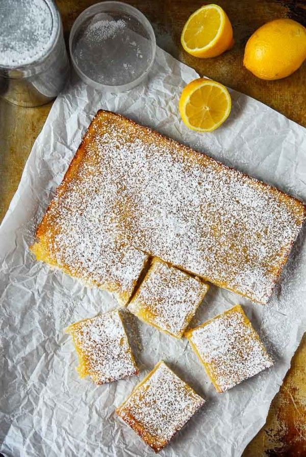 Vegan Lemon Bars with Shortbread Crust//thefrostedvegan.com