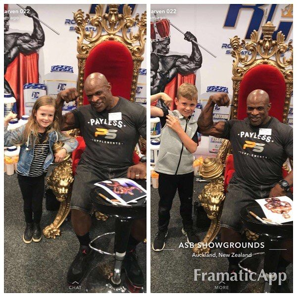 I'm out here at the ASB SHOW GROUNDS in Auckland New Zealand. This is the New Zealand Health and Fitness expo and today has been a great turnout. Thanks to all who came out and supported this great event. Y'all know BigRon loves the kids so I always have to show much love when they come through the line.