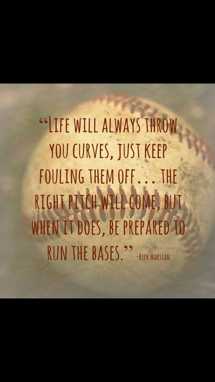 Baseball is, for, and, about life.  THG⚾