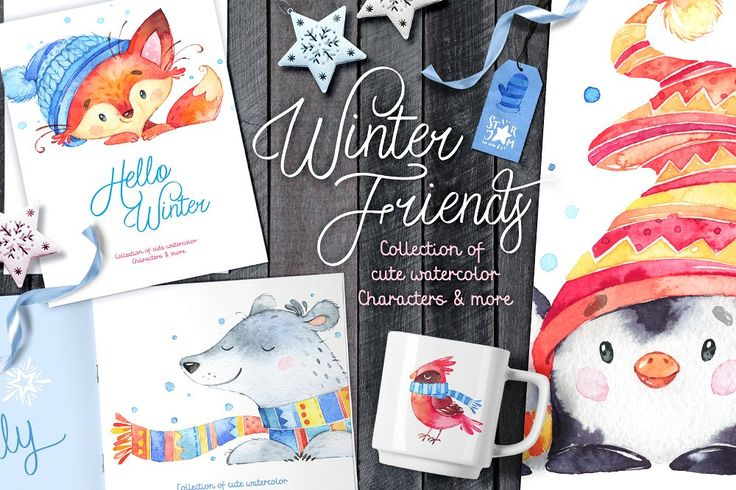 Winter Friends. Holiday collection - Illustrations - 2