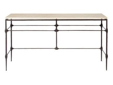 Ellsworth Metal Console Table: Living Rooms, Console Table, Consoles Tables, Sofas Tables, Stones Tops, Metals Consoles, Travertine Stones, Accent Ellsworth, Ellsworth Consoles