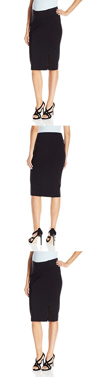 Ripe Maternity Women's Zeta Zip Ponte Skirt, Black, Small