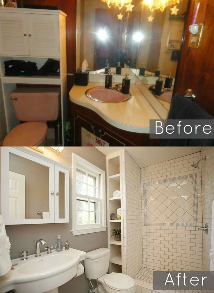 Before And After Bathroom Pic This House Had Adjoining Bathrooms With Two Sinks Split Level