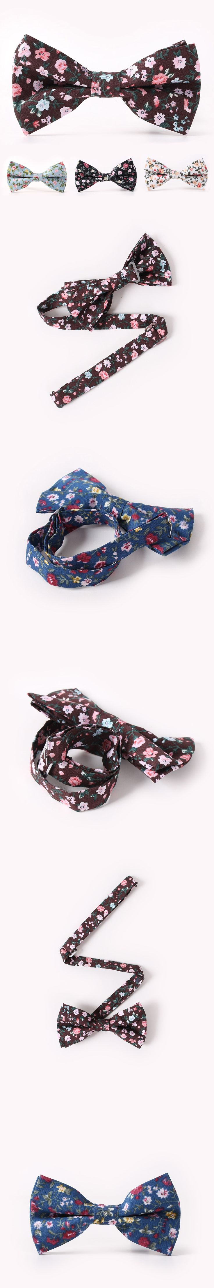 Bow Tie Fashion Floral Womens Wedding Cravat Party Butterfly Tie Mens Casual Business Bowtie 100% Cotton Free Shipping