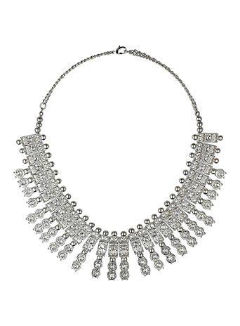 Rhinestone fan necklace