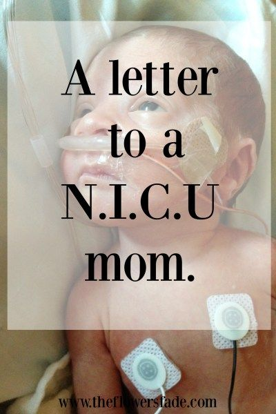 A letter to a NICU mom…