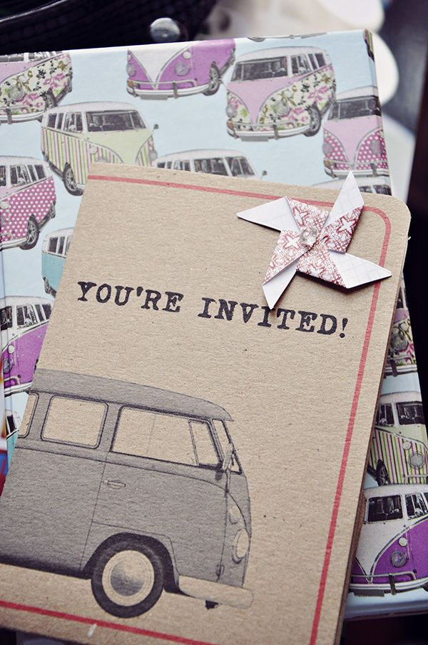 VW wedding - invites