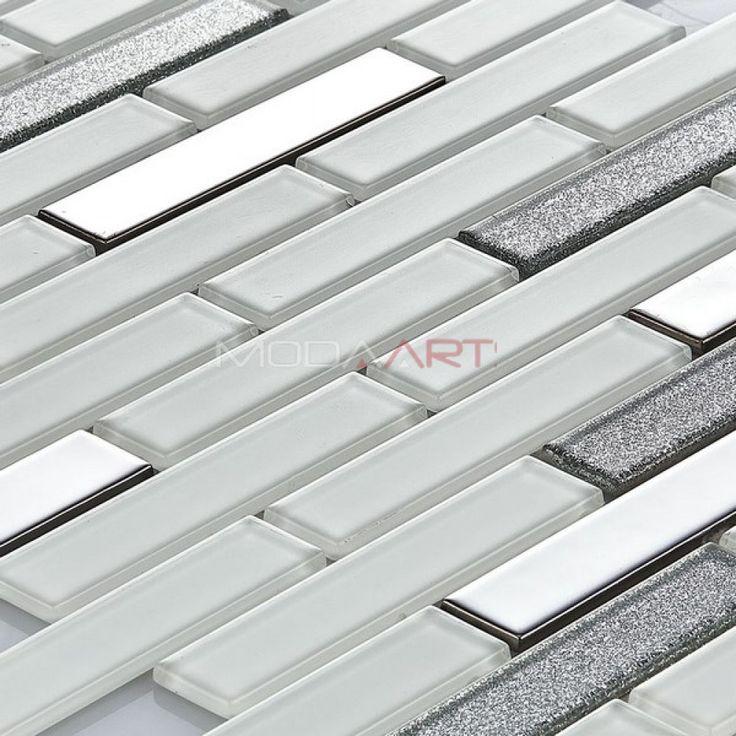 Modaarts Kristal Cam Mozaik http://modakristal.com.tr  Crystal Glass Mosaic MCR-709 23*98mm