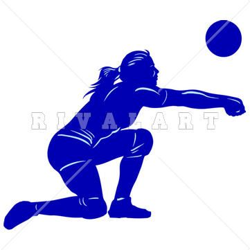 Sports Clipart Image of Volleyball Player Girls Woman Womens Bumping Graphic Silhouette http://www.rivalart.com/cart/pc/viewCategories.asp?idCategory=33&opid=5