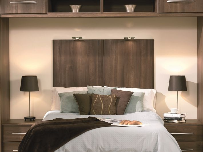 This dark walnut bedroom design adds instant warmth with rustic tones and hues.