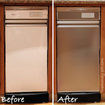 The Money Pit: Turning White Appliances into Stainless Steel for $25!