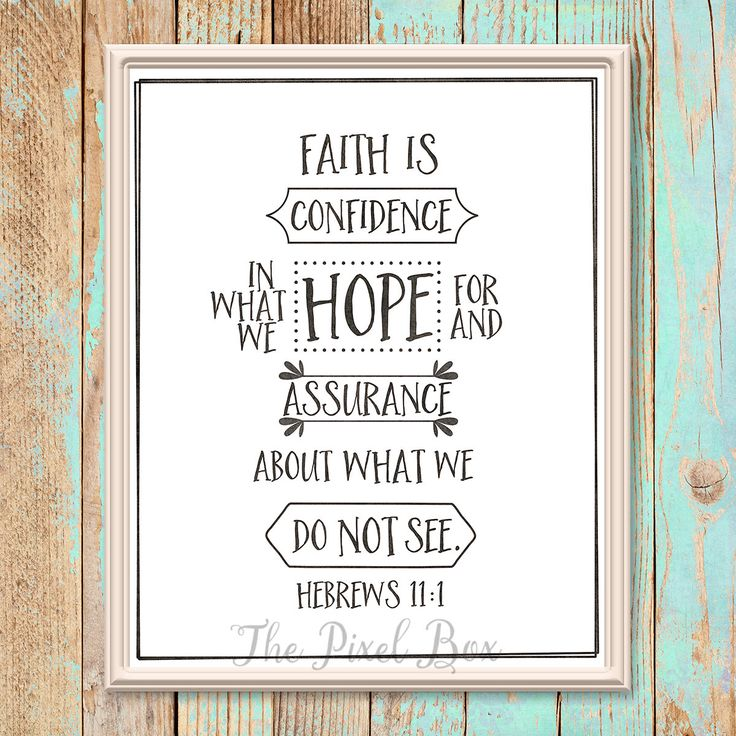 Printable inspirational Wall art poster quote motivational saying Faith is Typography love life downloadable print by ThePixelBox on Etsy