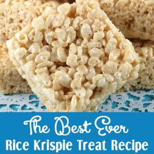 The Best Ever Rice Krispie Treat Recipe - we've perfected this recipe over the years and it makes the best Rice Krispie Treats we've ever tasted!