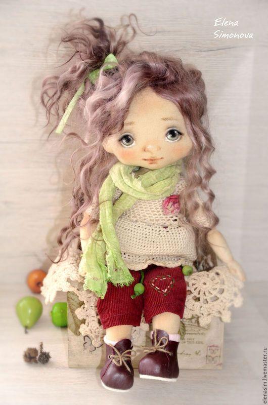 Коллекционные куклы ручной работы. Ярмарка Мастеров - ручная работа. Купить Вишенка. Handmade. Комбинированный, авторская кукла, вязание крючком