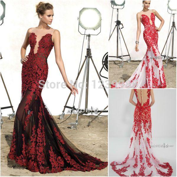 Купить товарYp0209 новый в продаже русалка пром платье красный длинные пром платья 2015 кружева аппликация сексуальное отвесное длинный элегантный формальное вечернее платье в категории Выпускные платьяна AliExpress.                                        Пересылка:                   Когда вы размещаете заказ, пожалуйста, выберит