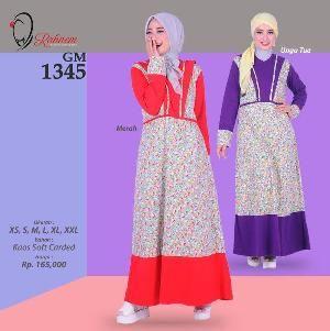 Baju Gamis Wanita Rahnem Model GM 1345 - Promo Ramadhan Sale