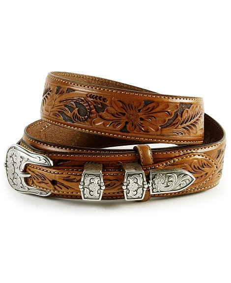 Tony Lama Tooled Leather Ranger Belt