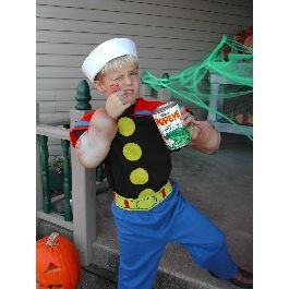 popeye  toddler custom homemade | Popeye Costume | Easy Homemade Halloween Costumes | Disney Family.com