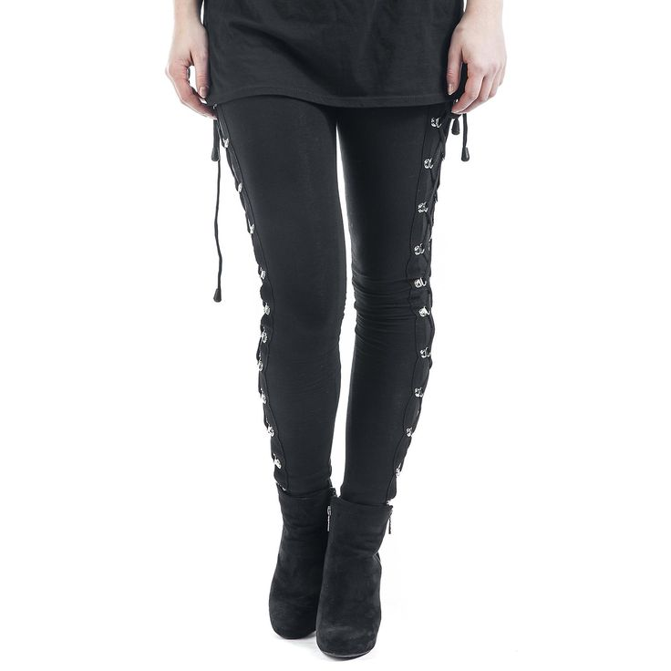 Gothicana by EMP  Leggings  »Gothic Lady Lace« | Buy now at EMP | More Gothic  Leggings  available online ✓ Unbeatable prices!