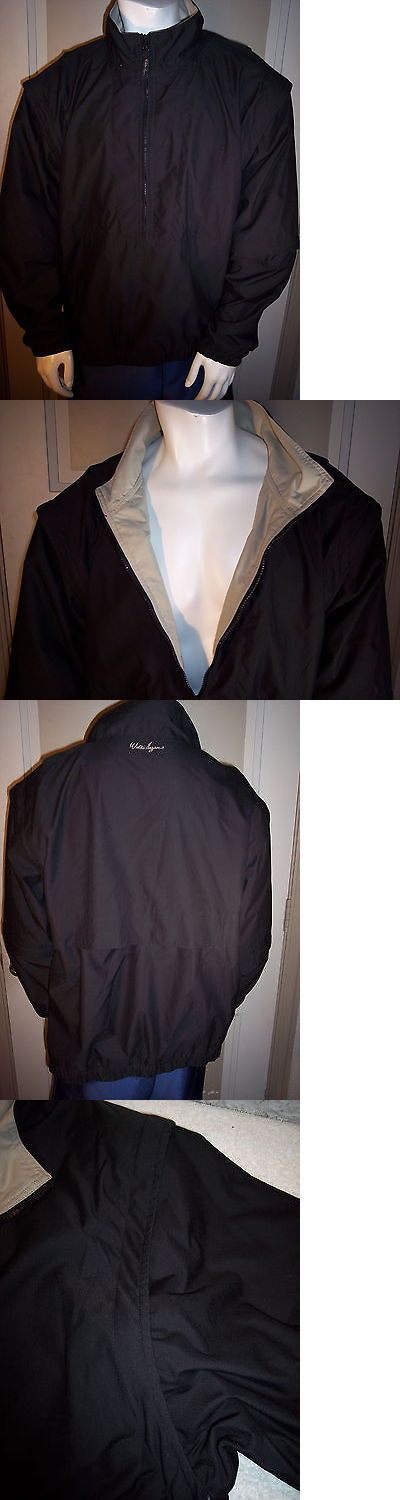 Coats and Jackets 181134: Nwot Walter Hagen Mens Xl Black 1 2 Zip Tri-Sleeve Waterproof Golf Jacket -> BUY IT NOW ONLY: $32.76 on eBay!