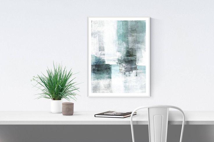 Textured Contemporary Abstract Painting Digital Download Print, Modern Urban Printable Wall Art, Blue Grey White Ethereal Landscape Art by MinimalInstant on Etsy