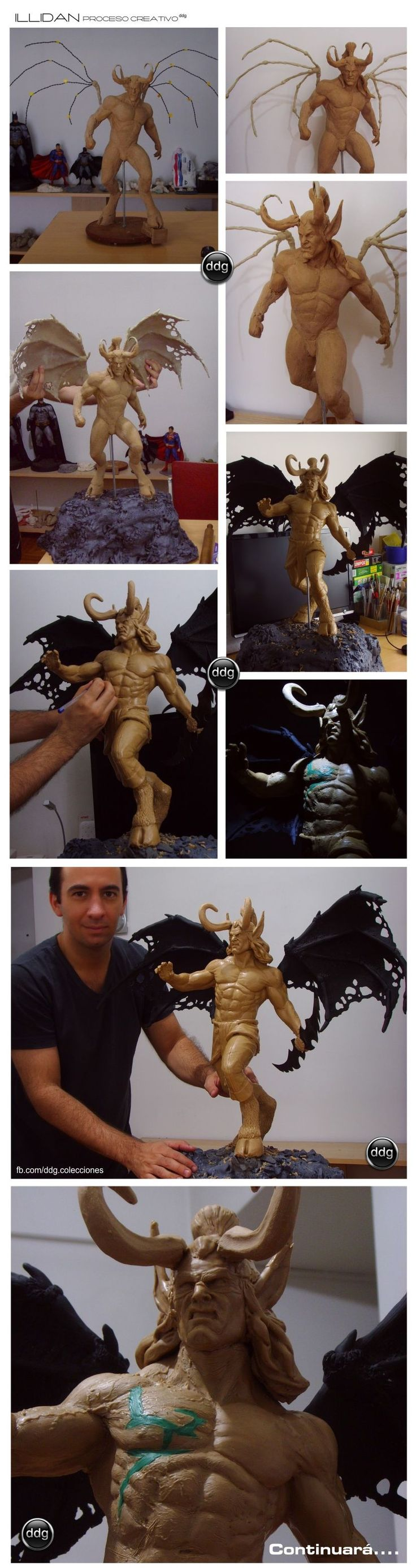 Illidan - Warcraft sculpt WIP by ddgcom.deviantart.com on @deviantART