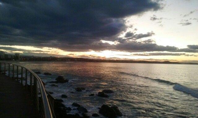 Kirra point sunset