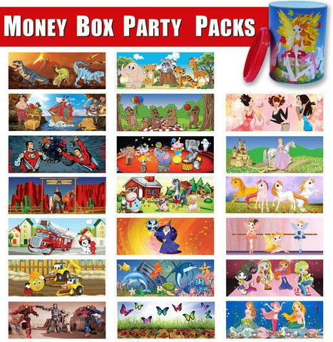Money Box Party Packs - KidsnCrafts Online Store - 2