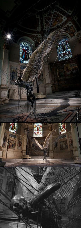Strangely beautiful statue of Lucifer, by Paul Fryer - holy trinity church marylebone