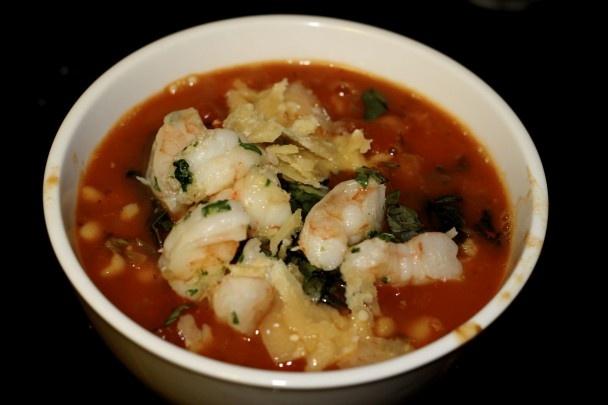 Tuscan Bean Soup with Shrimp | SOUPadelicious! | Pinterest