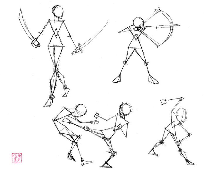 Drawing Smooth Lines Quiz : Draw basic people part by diana huang viantart on