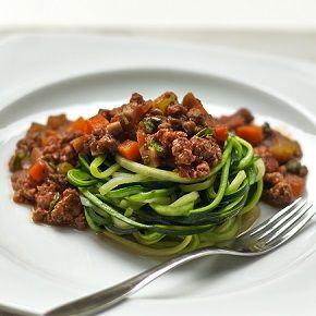 Try this delicious recipe for a healthy courgette spaghetti bolognese, made using courgetti, mushrooms, onion, celery, and Quorn Meat Free…